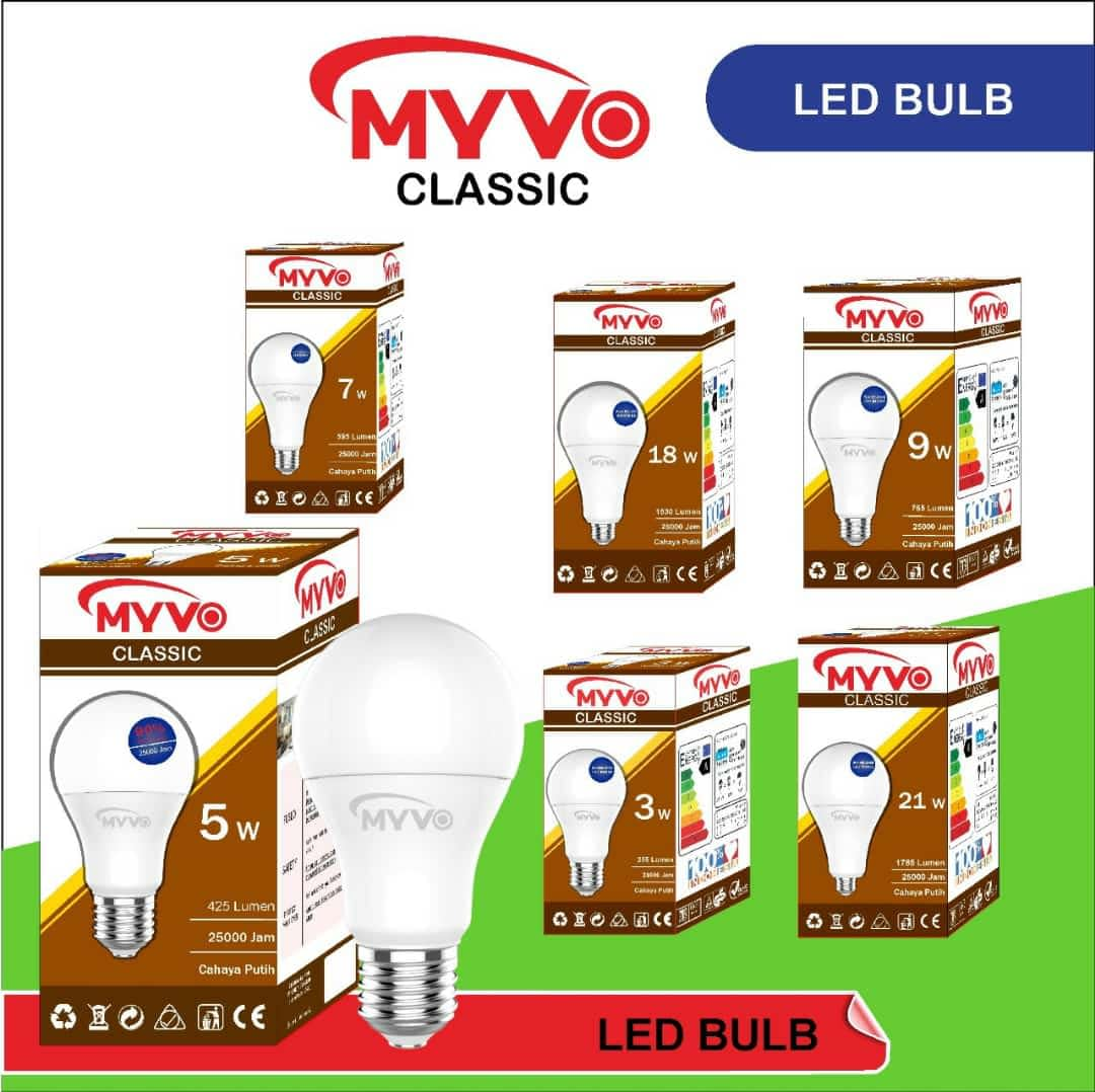 Suplier Bohlam Lampu LED Myvo Produk